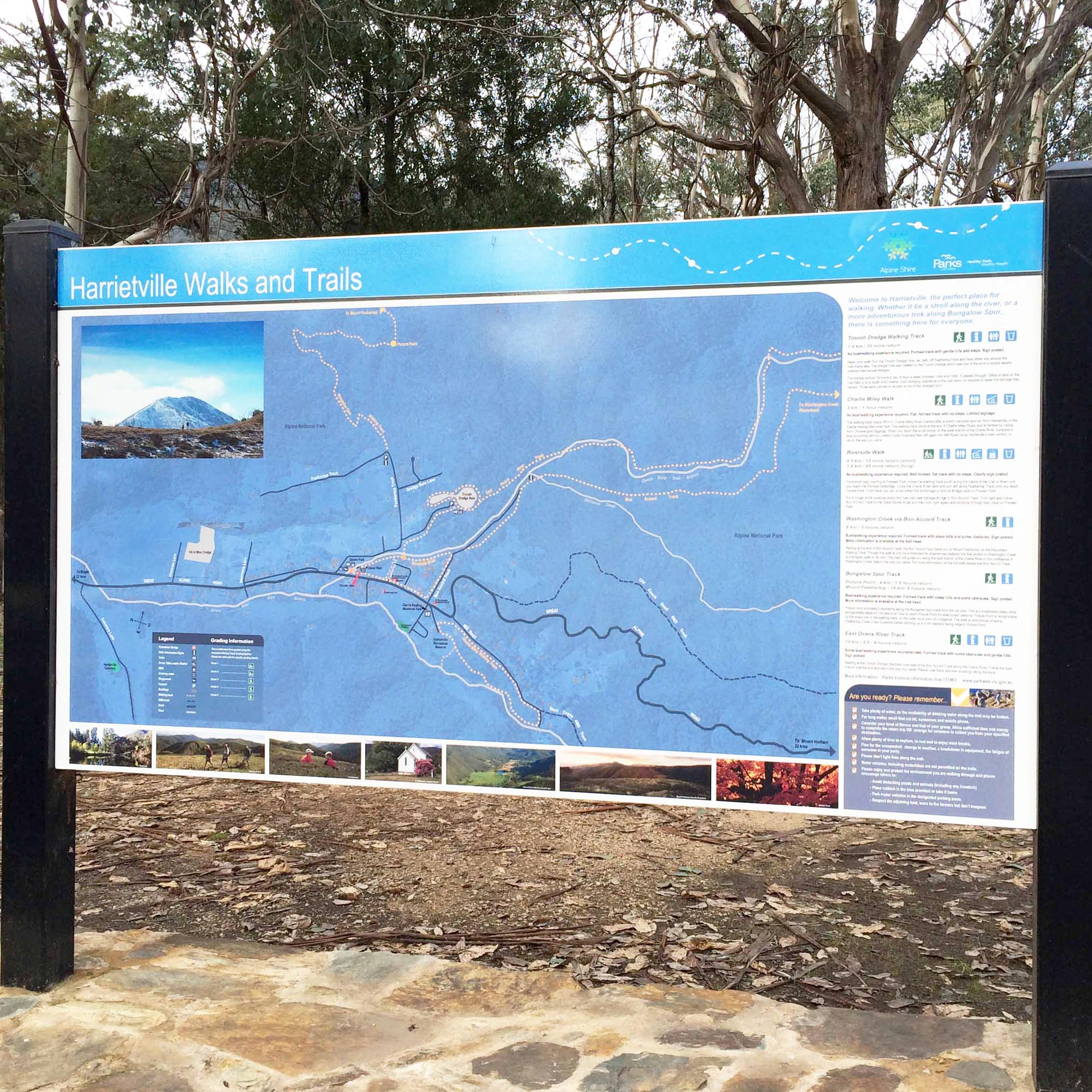Harrietville Walking Map